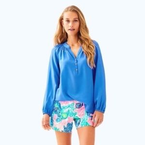 🌴 NWT Lilly Pulitzer Elsa Silk Top - Bennet Blue